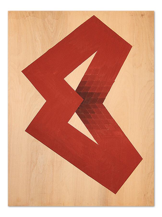 Letter O – acrylic on wood, 80×120 cm