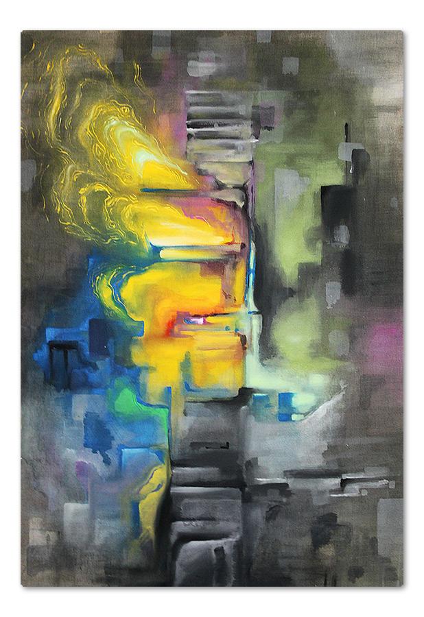Untitled – acrylic on canvas, 70×100 cm