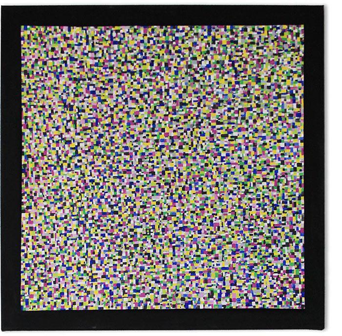DIGI square – acrylic on canvas, 80×80 cm