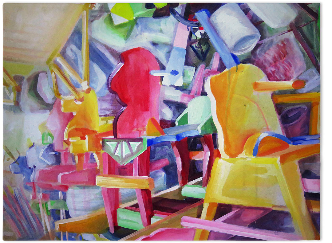 Toy shop – oil on canvas, 50×80 cm