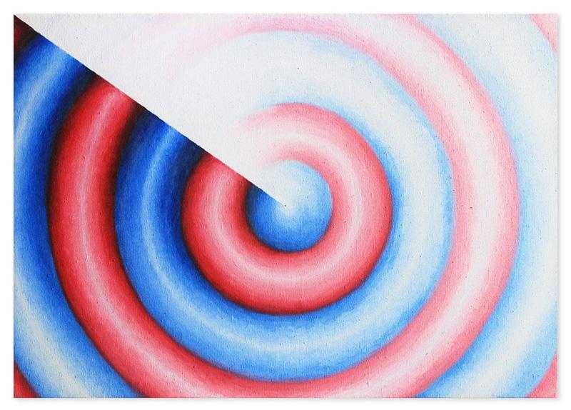 Tricolor radar gradient – oil on canvas, 85x60 cm